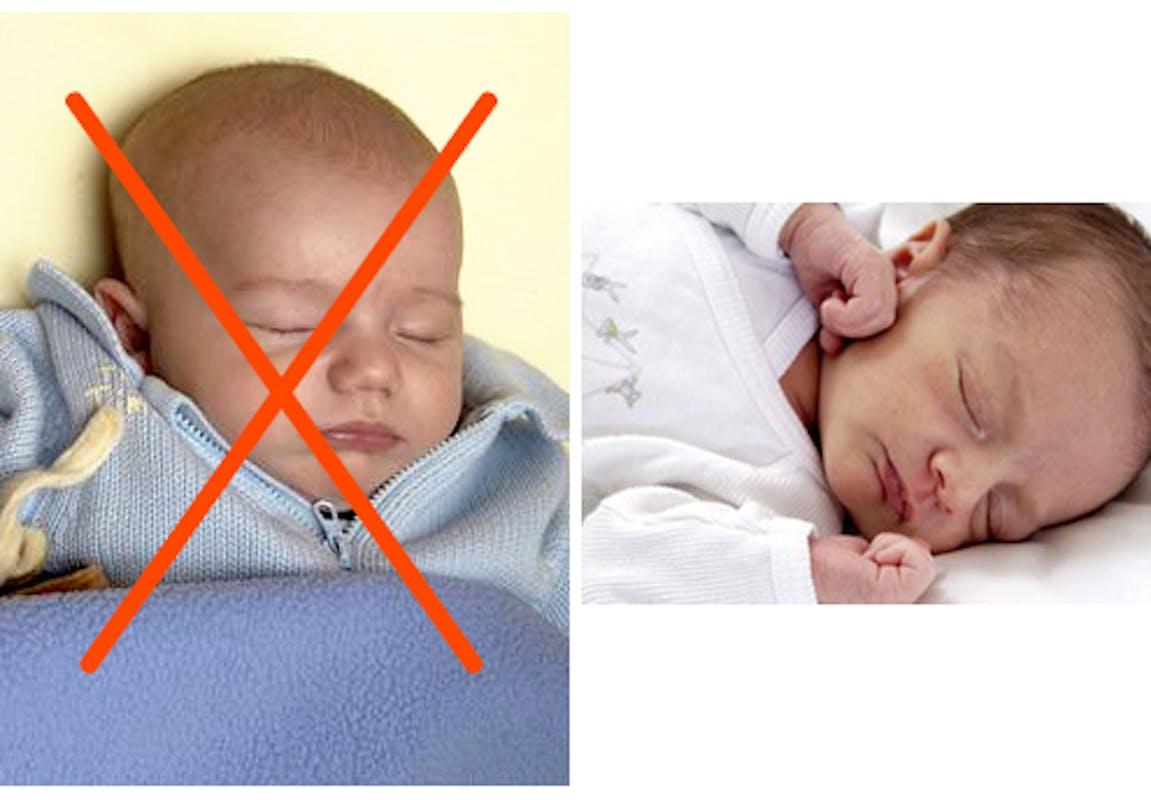 Trop couvrir Bébé, mauvais réflexe