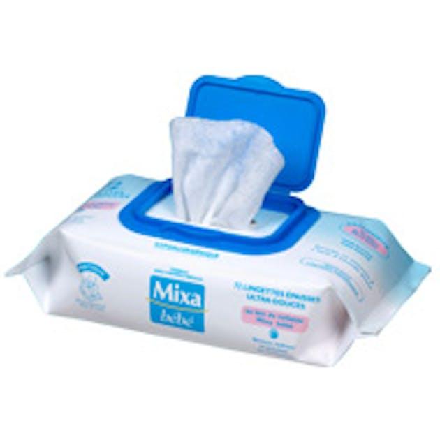 Lingettes au lait de toilette de mixa b b banc d 39 essai for Banc auto bebe