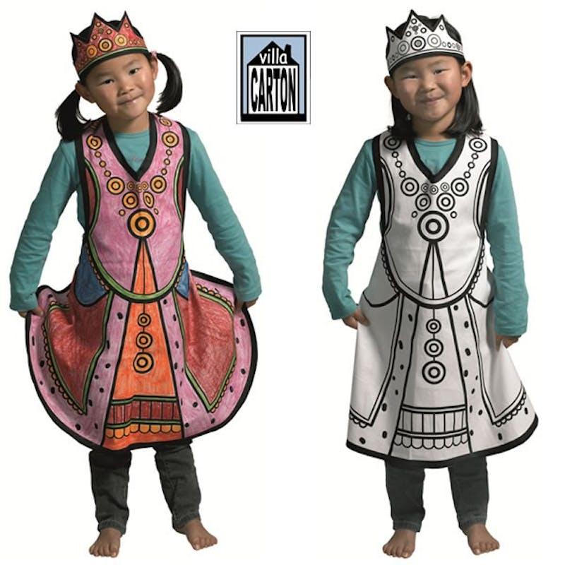 Costume de reine à colorier