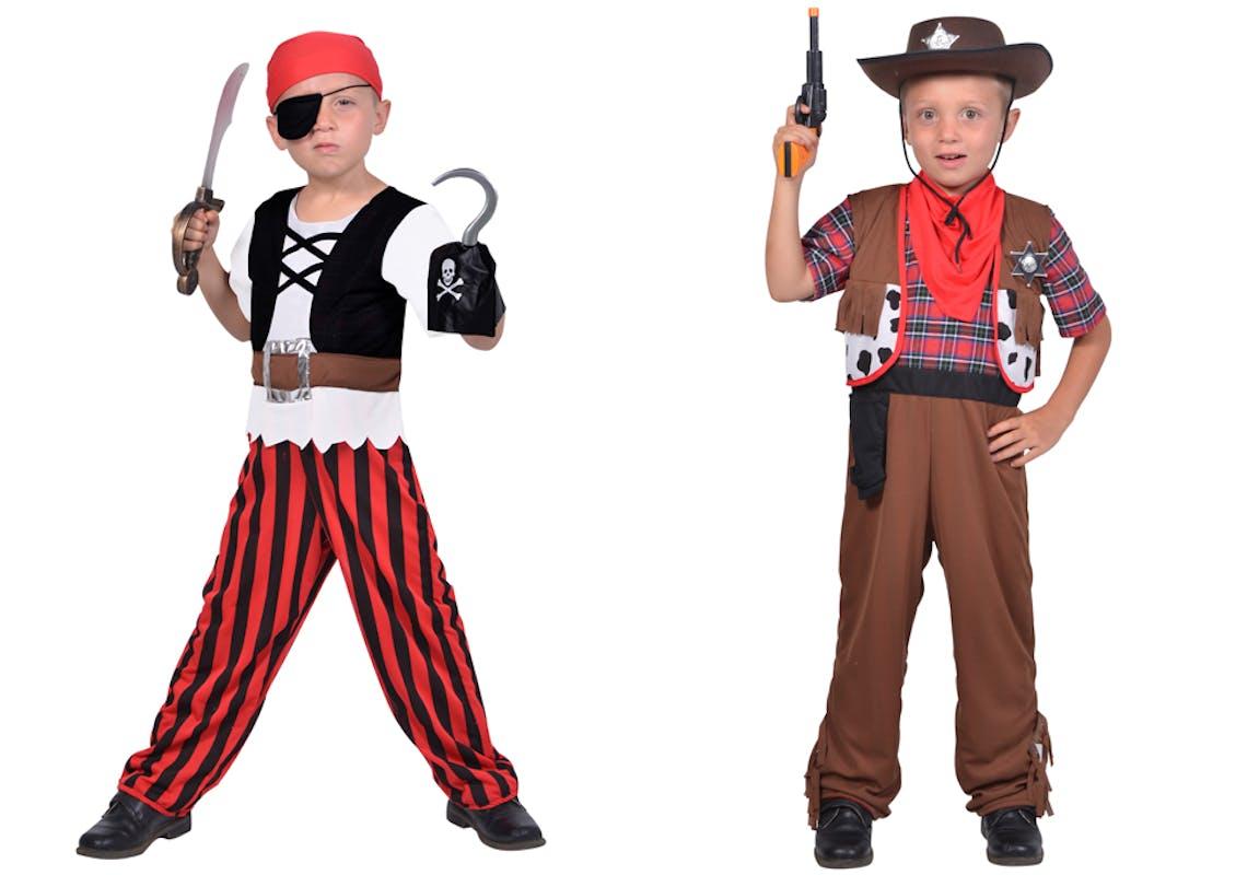 Déguisement 2-en-1 pirate et cowboy