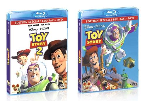 Toy Story 1 et 2 en Blu Ray