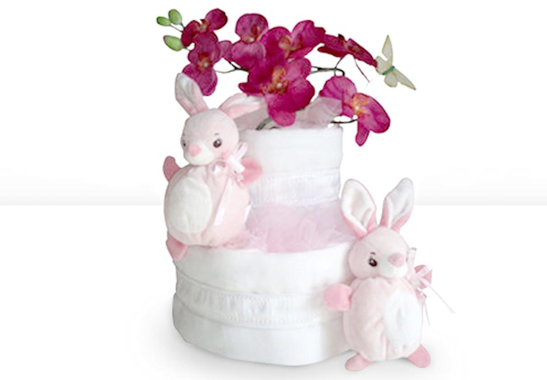 Gâteau de couches fleuri