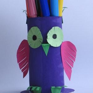 Le porte-crayon hibou