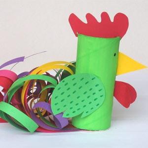 Le coq multicolore