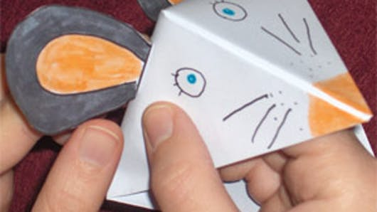 Tête de souris en origamie