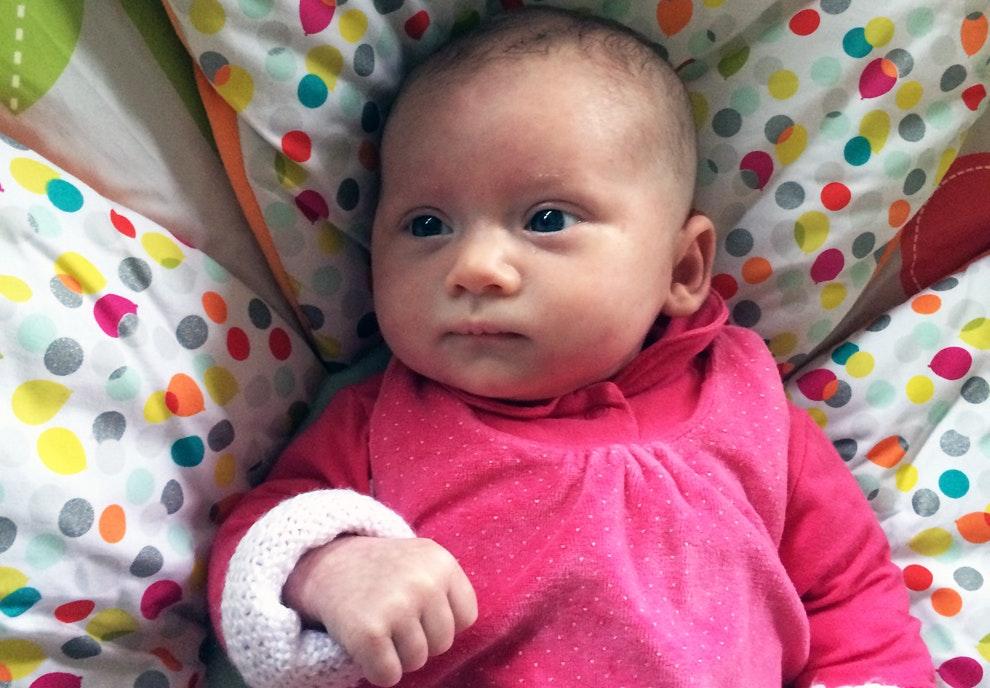 Maéline (1 mois)