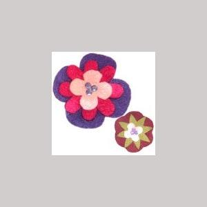 Broches fleurs