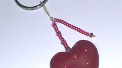 Porte-clés coeur