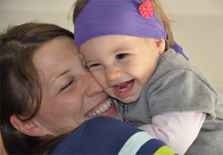 Annetrehand et sa fille Lou (13 mois)
