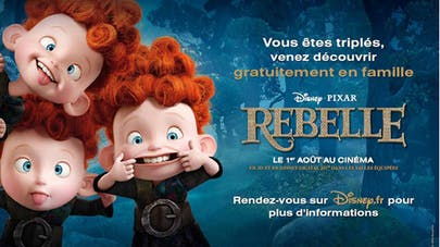 Sortie ciné : le film Rebelle gratuit pour les triplés   !