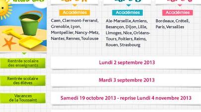 Le nouveau calendrier scolaire 2013/2014
