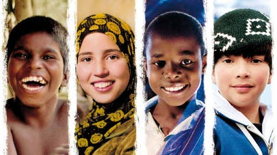 Les enfants du monde entier sur le chemin de   l'école