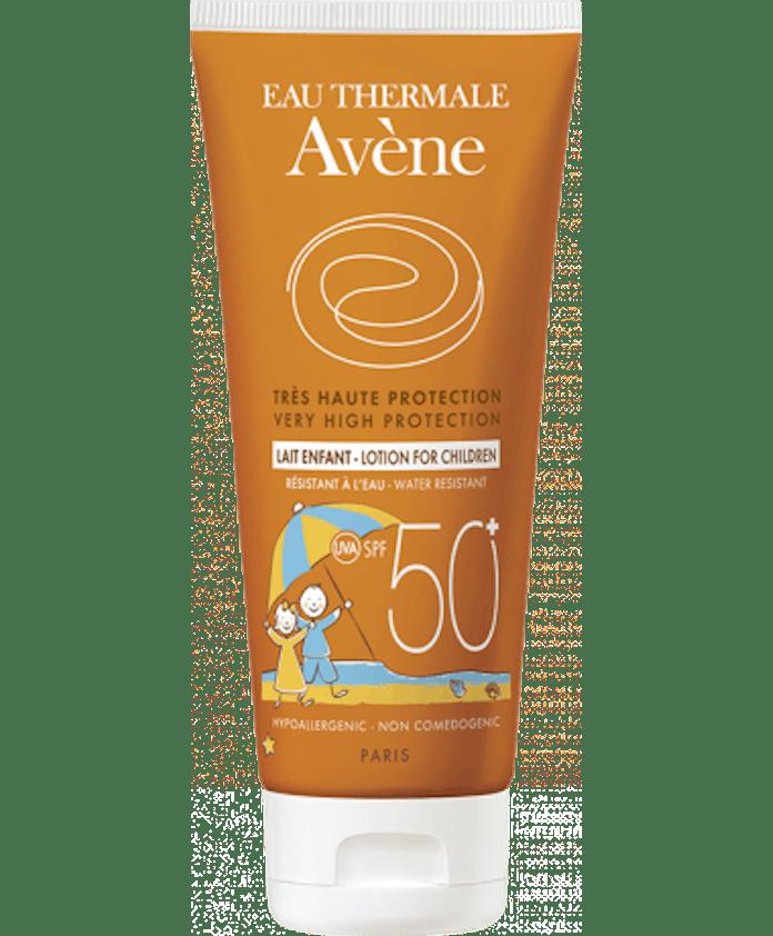 Lait solaire très haute protection peaux sensibles       enfants d'Avène