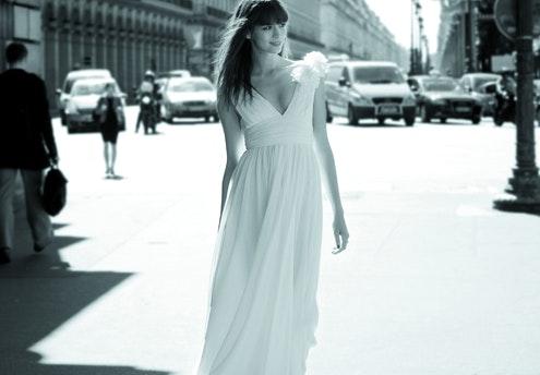 Robe de mariée vestale