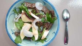 Salade de bœuf thaï : étape 1