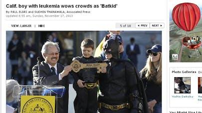 USA : un petit garçon malade devient le Batman d'un   jour