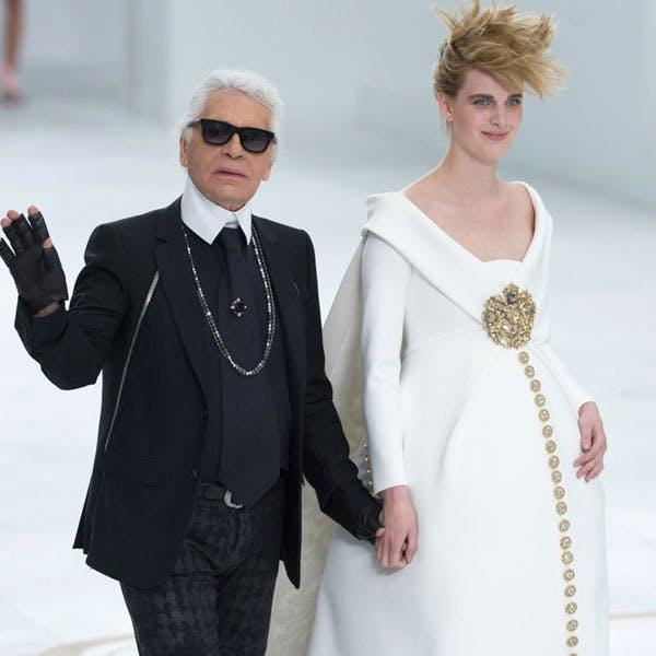 mariée enceinte Karl Lagerfeld