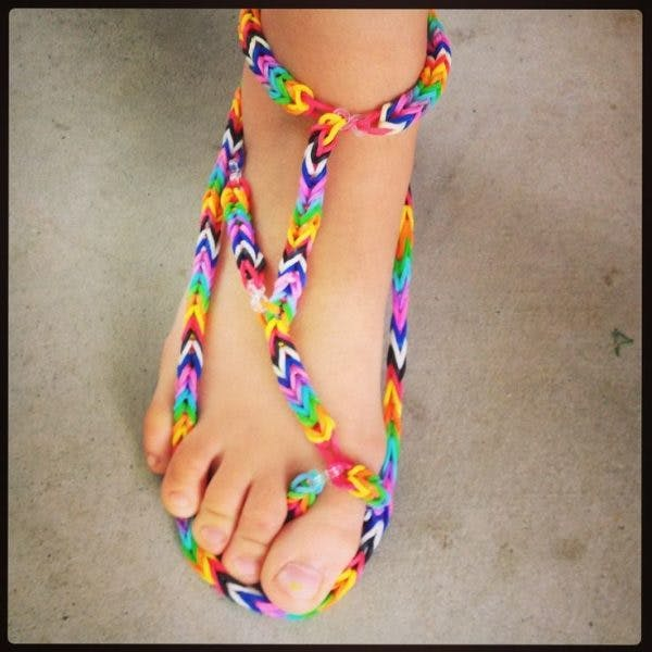Robe en elastique rainbow loom