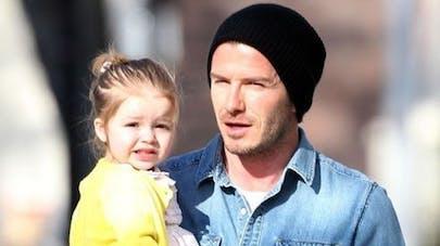 La petite Harper Beckham jugée trop grosse par un tabloïd   allemand