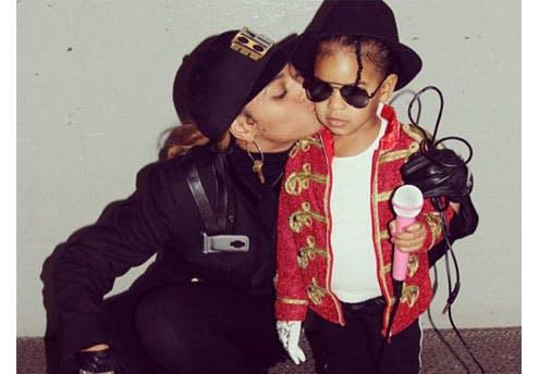 Beyoncé et sa fille en Janet et Michael Jackson
