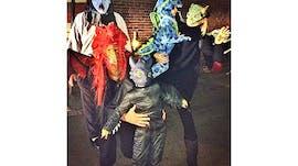 Gisele Bündchen et sa famille en dragons