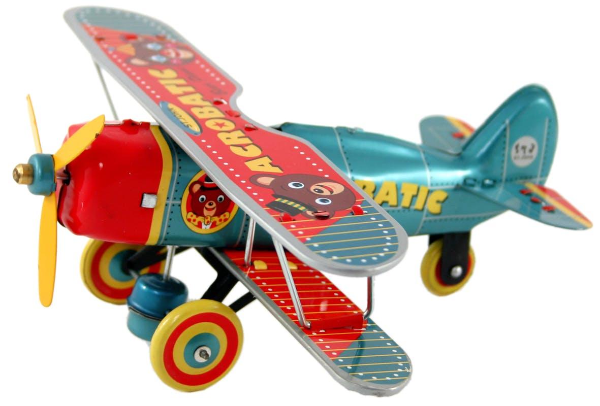 Avion jouet métal
