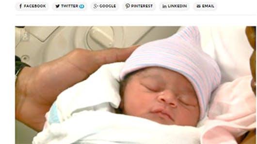 Etats-Unis : une petite fille naît le même jour que ses   deux parents