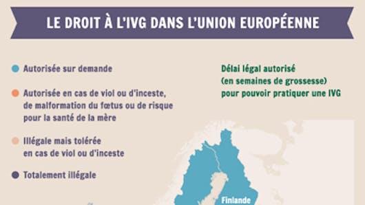 IVG : tour d'Europe des législations - Infographie