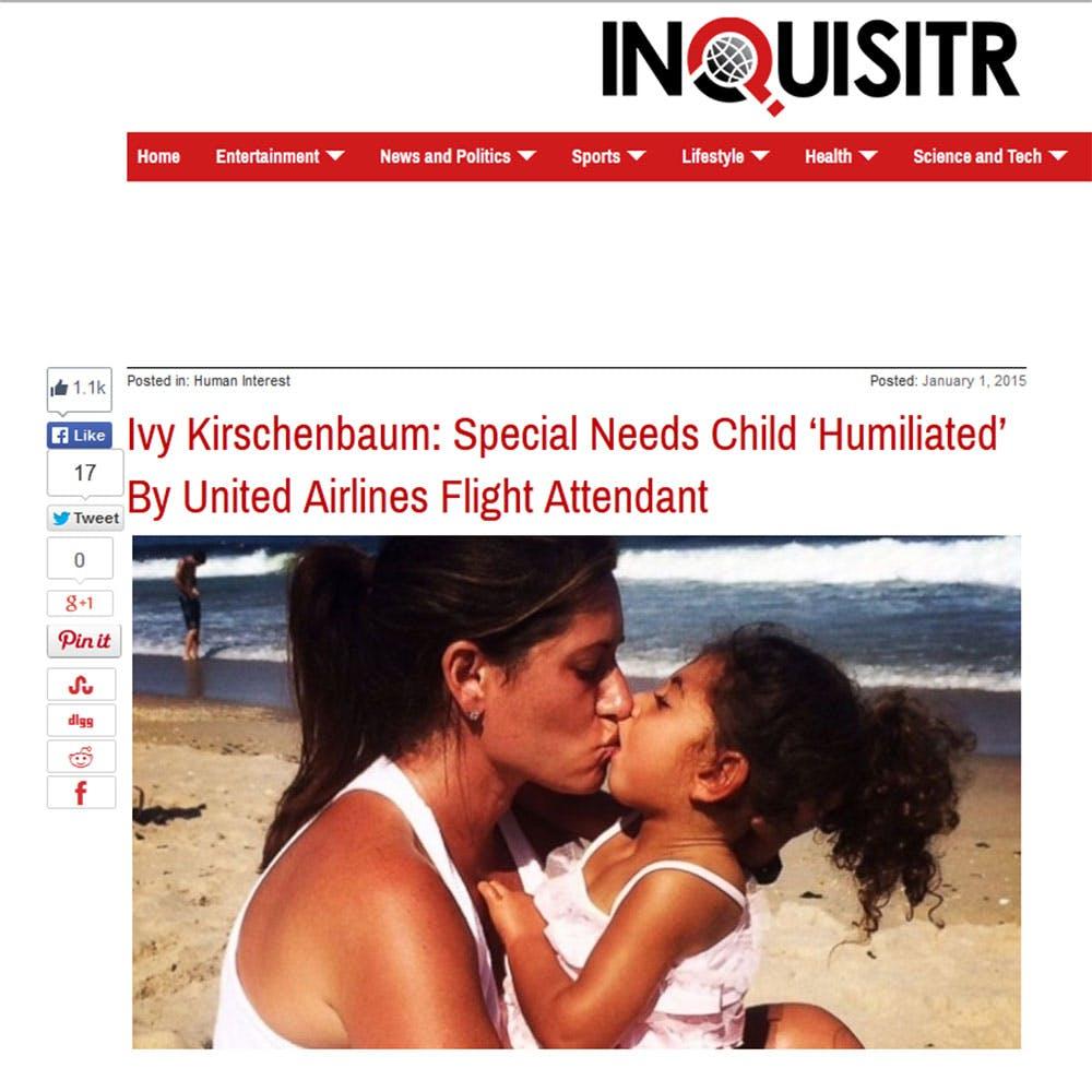 Une fillette tétraplégique « humiliée » lors d'un vol   United Airlines