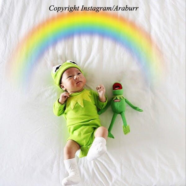Bébé arc-en-ciel