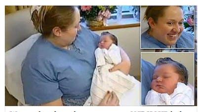 Une femme apprend qu'elle est enceinte à 9 mois de grossesse