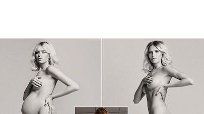 Les photos après grossesse d'une top model russe font   polémique
