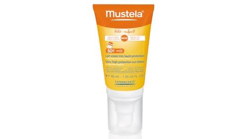 Catégorie Produits Solaires (circuit sélectif) : Lait         solaire très haute protection 50+ format spécial visage         Mustela