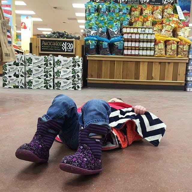 Crise au supermarché