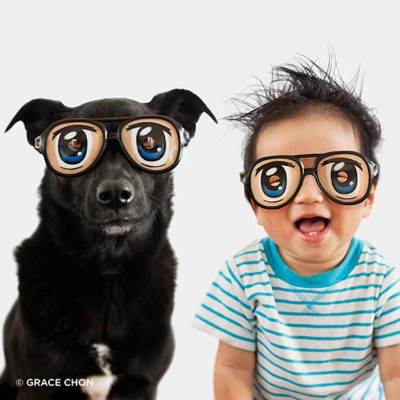 A lunettes