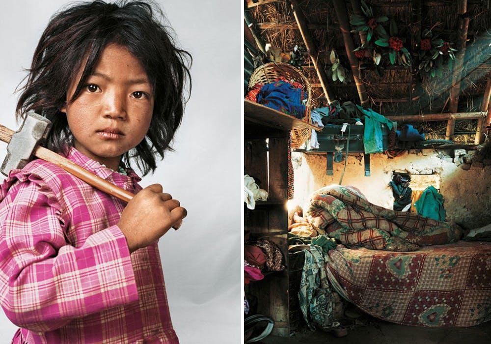 Indira, 7 ans, Kathmandu, Népal