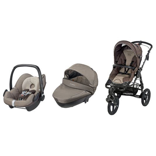 La poussette High Trek + nacelle Windoo Plus + Cosi         Pebble de Bébé Confort : sur mesure !