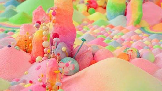 Ces décors féeriques sont en… bonbons !