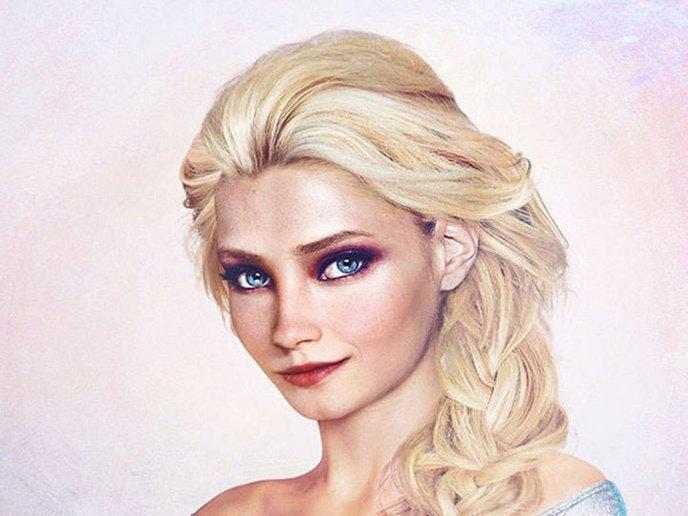Disney : 19 princesses aux visages de vraies jeunes femmes   !