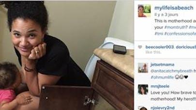 Une photo d'une mère qui allaite aux toilettes fait le   buzz