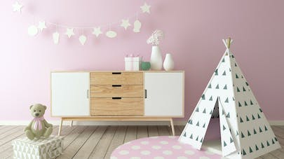 d co la tendance pastel pour une chambre d 39 enfant. Black Bedroom Furniture Sets. Home Design Ideas