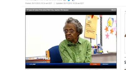 A 97 ans, elle part en excursion scolaire pour la première fois