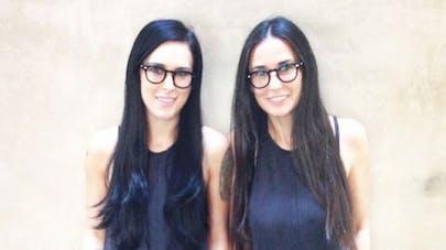 Demi Moore : elle pose avec sa fille comme de vraies   jumelles