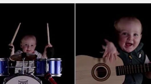 Vidéo : un bébé musicien trop craquant