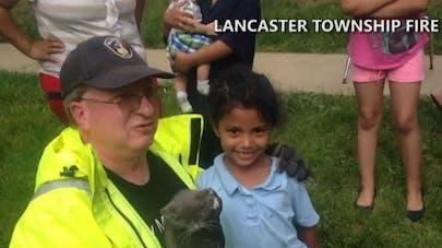 Une fillette de 6 ans sauve un chat d'un égout trop petit   pour les pompiers