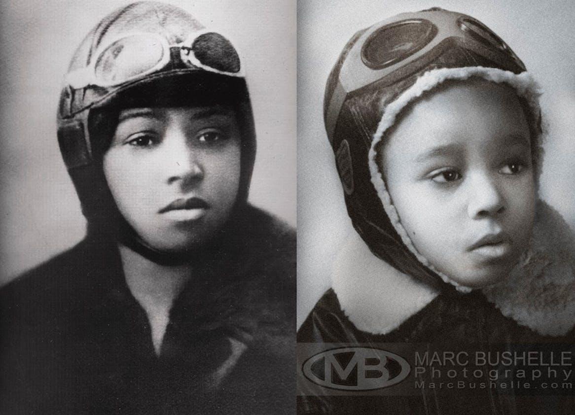 Bessie Coleman, première Afro-Américaine à détenir une         licence de pilote