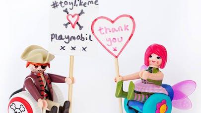 Playmobil lance des figurines handicapées !