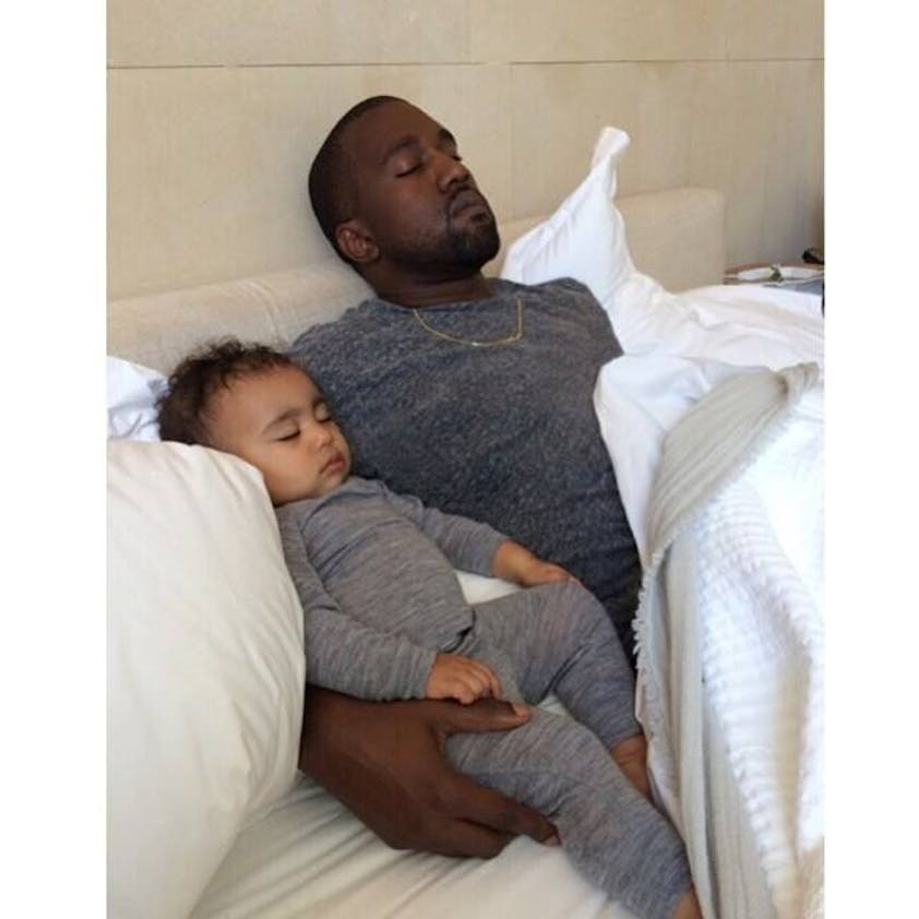 Kanye West avec North