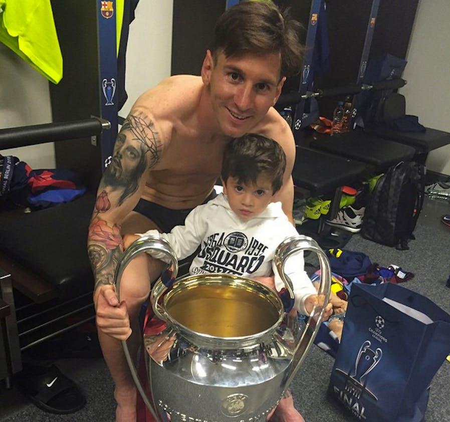 Lionel Messi et son fils