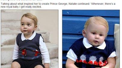 Grande-Bretagne : une poupée identique au prince   George